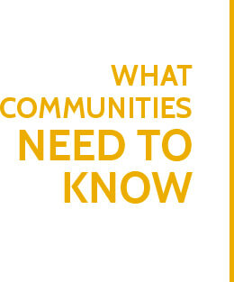 What Communities Need to know